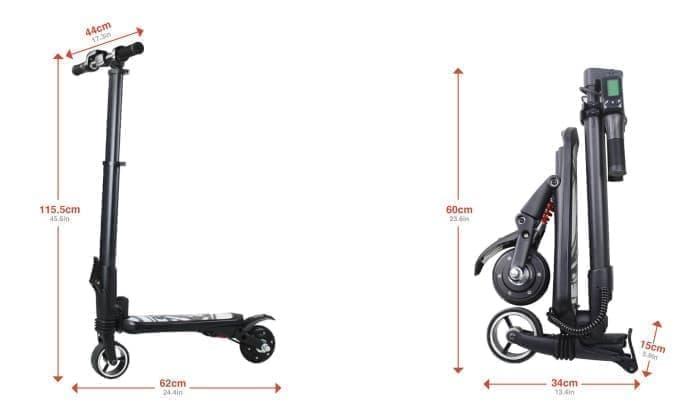 バックパックに入る電動スクーター「MiniFalcon」