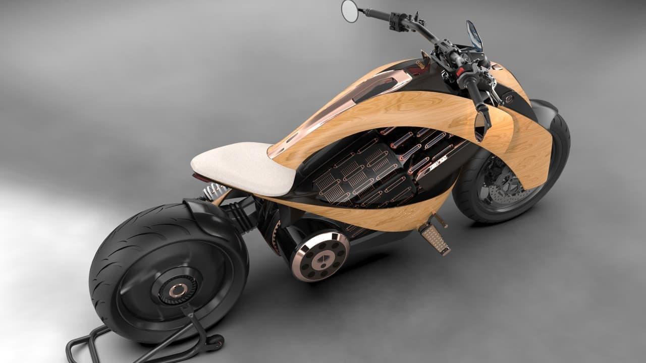 Newron Motors木製バイク