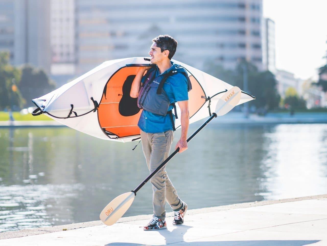 東京が水上交通主体の都市になったら?-折り畳んでデスク下に収納できるカヤックOru Kayak「Inlet」