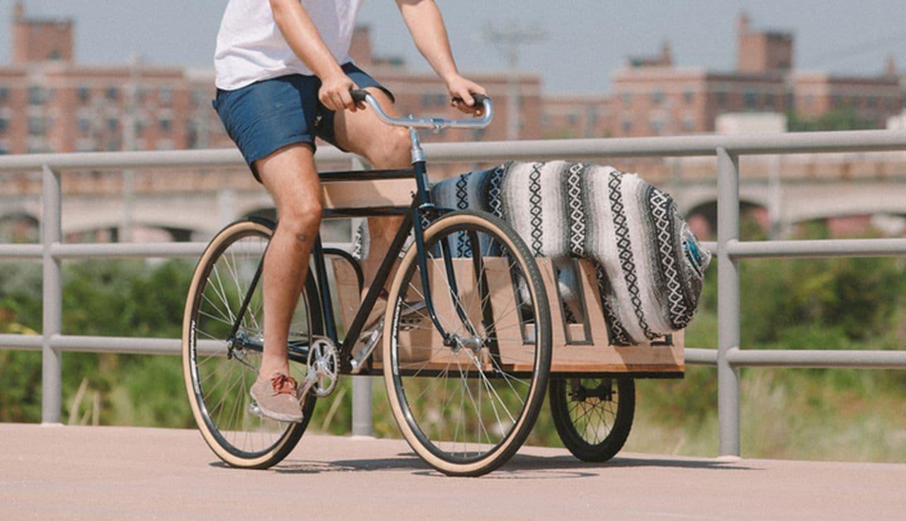 ニューヨークデザイン! サイドカー付きの自転車「Side Car Bicycle」―中型犬なら3匹乗せられる