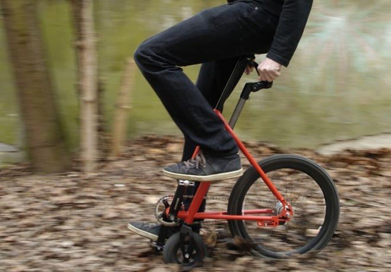 前半分をばっさりと切って捨てた潔い自転車「Halbrad」