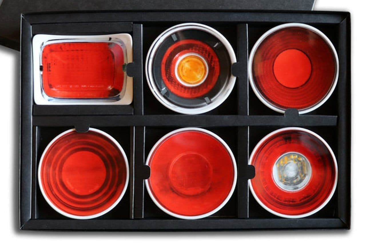 【歴代GT-R】テールランプをモチーフにした豆皿セット