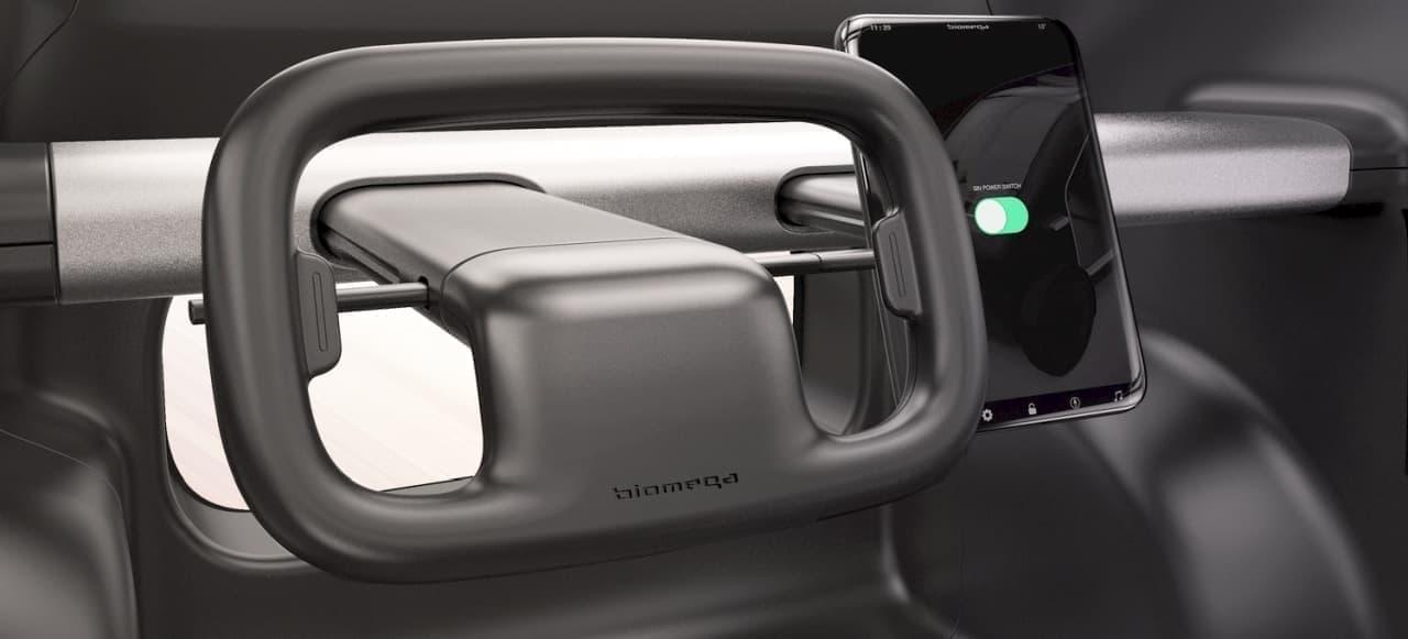 自転車のように周囲を360度見渡せるBiomegaのEV