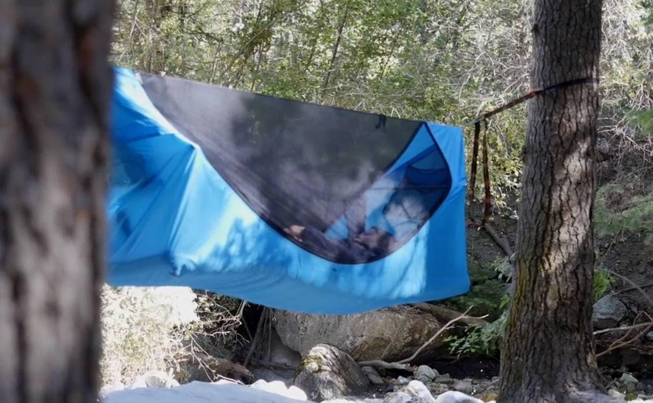 ハンモックみたいに吊るせるテント「Haven tent」