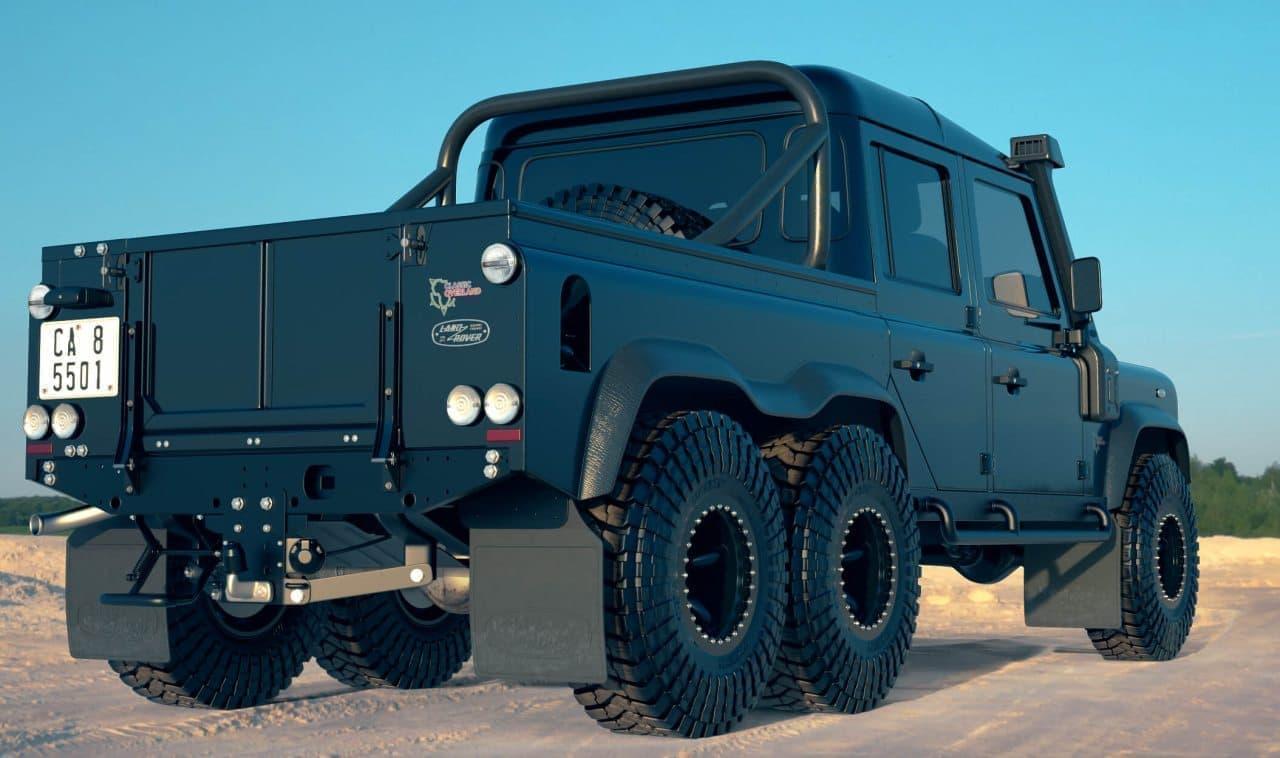 4WDではなく、6WDのランドローバー「DEFENDER」