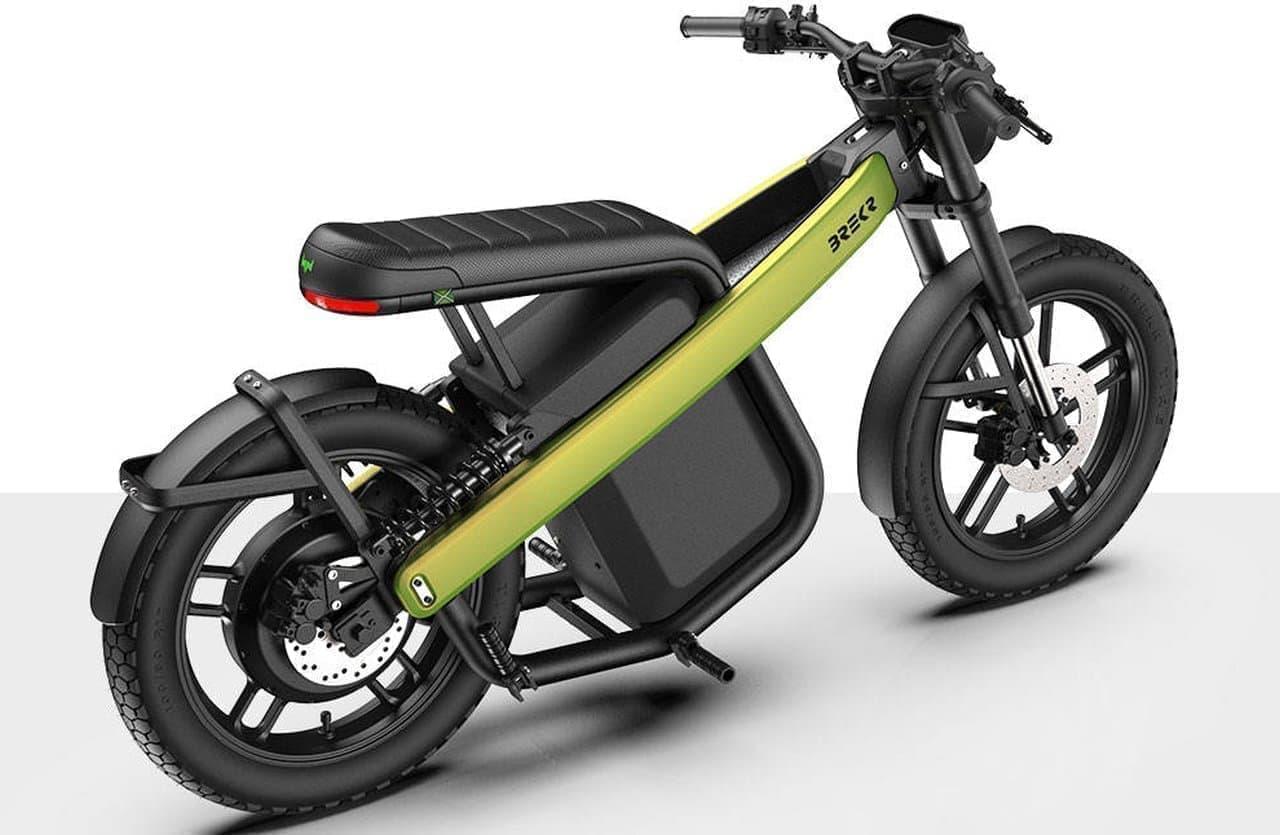 フル充電で160キロ走れる電動バイク「Brekr Model B」