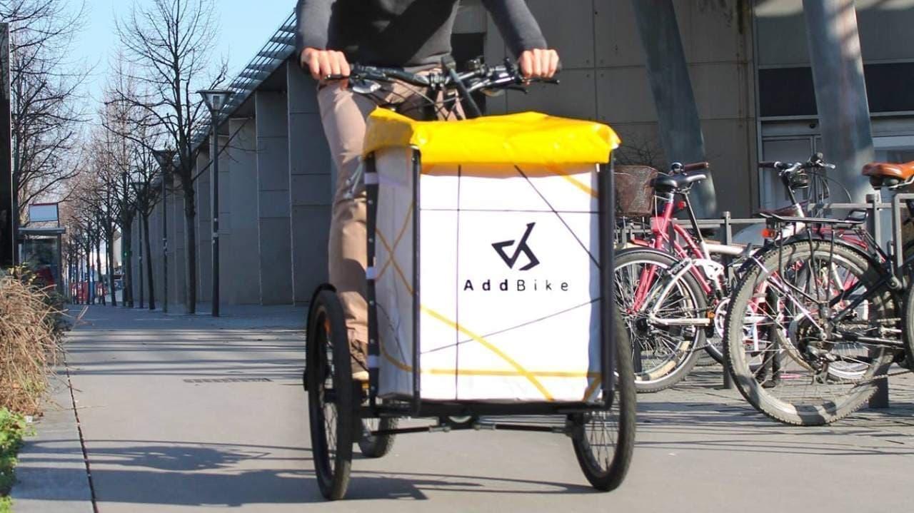 愛車をカーゴバイクにする「AddBike」