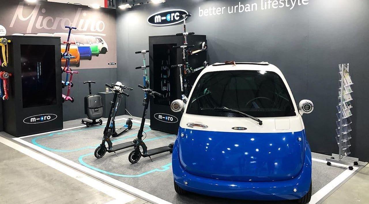 前から乗り降りできる電気自動車「Microlino」、東京モーターショーに登場