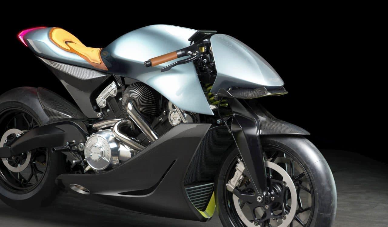 アストンマーティンがV型ツインターボ搭載のバイク「AMB 001」を発表