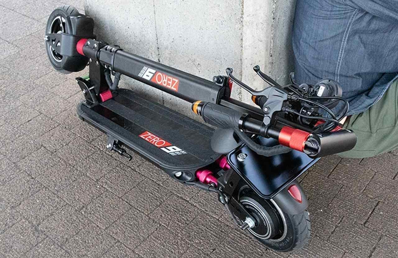 原付バイク扱いで公道を走れる電動キックボード「ZERO9」