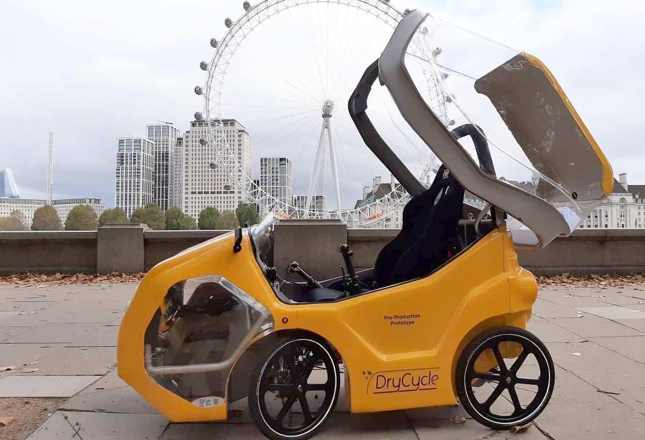屋根付きで自動車の代わりに使える4輪電動アシスト「DryCycle」