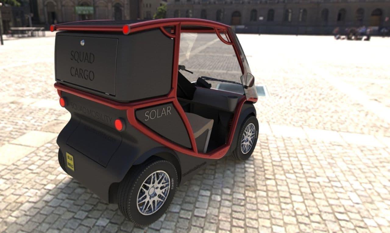 太陽電池だけ、充電いらずの小型EV「Squad」