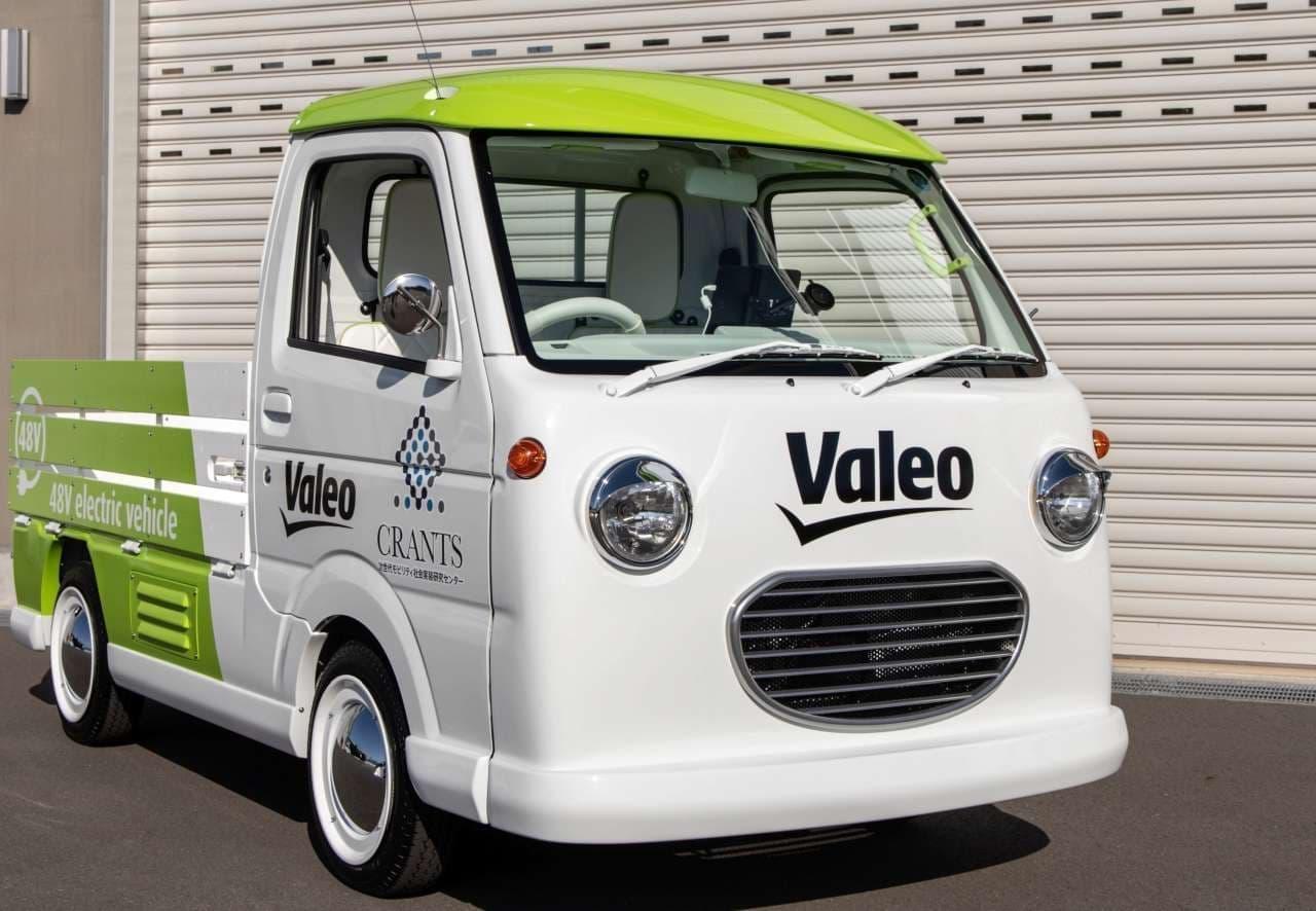 電動軽トラしかも4WD、ヴァレオと群馬大学が共同制作