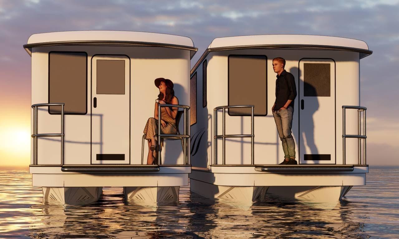 水上のキャンピングカー「Fargo Elite Cabin」