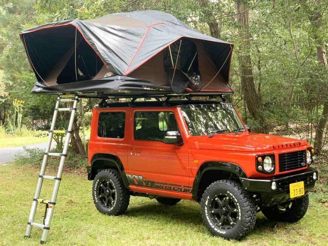 ジムニーなどの小型車でもキャンプが楽しめる「X-Cover」