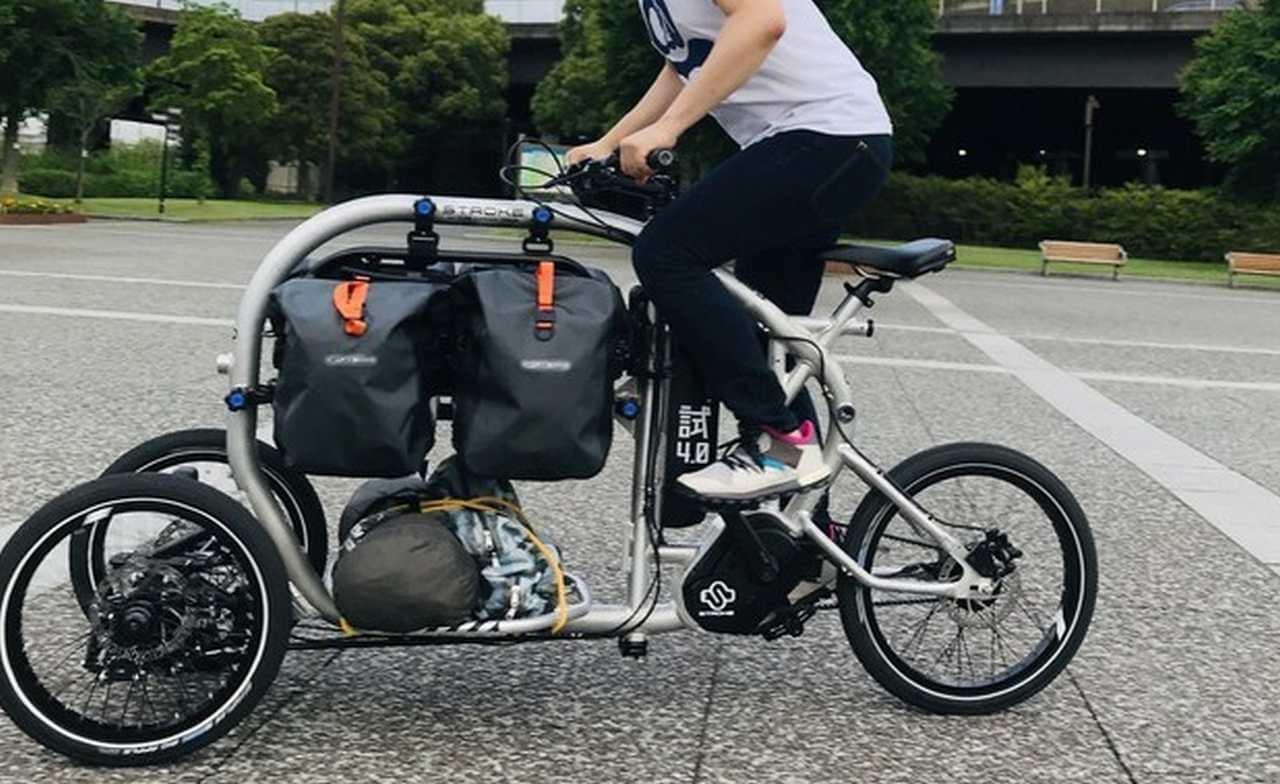 """""""高さ""""を活かした電動アシスト三輪カーゴバイク「STROKE」"""