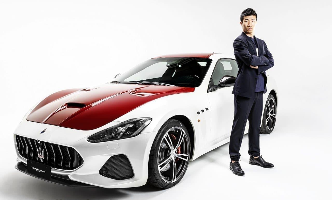 桐生祥秀さんのマセラティ ブランドアンバサダー就任を祝う特別限定車「グラントゥーリズモ グランフィナーレ」