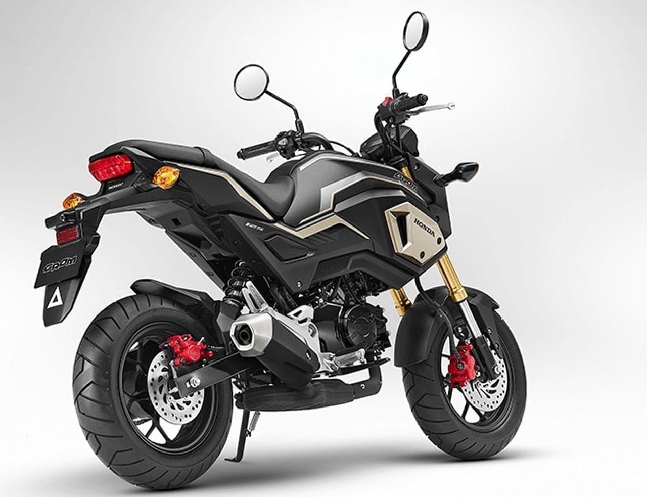125ccのスポーツモデル ホンダ「グロム」カラーリング変更