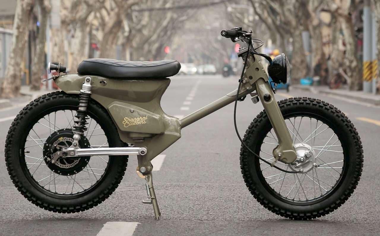 2018年に発売されたホンダカブベースの電動バイク「eCub2」