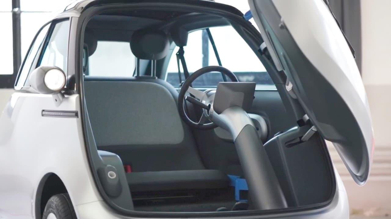 前から乗り降りできる電気自動車「Microlino」