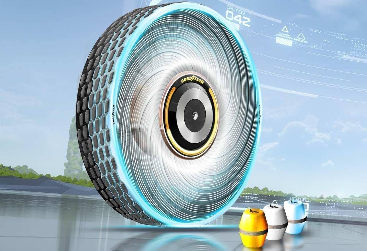 タイヤのトレッドがすり減ったら、カートリッジを交換―グッドイヤーが「reCharge」コンセプトタイヤを発表