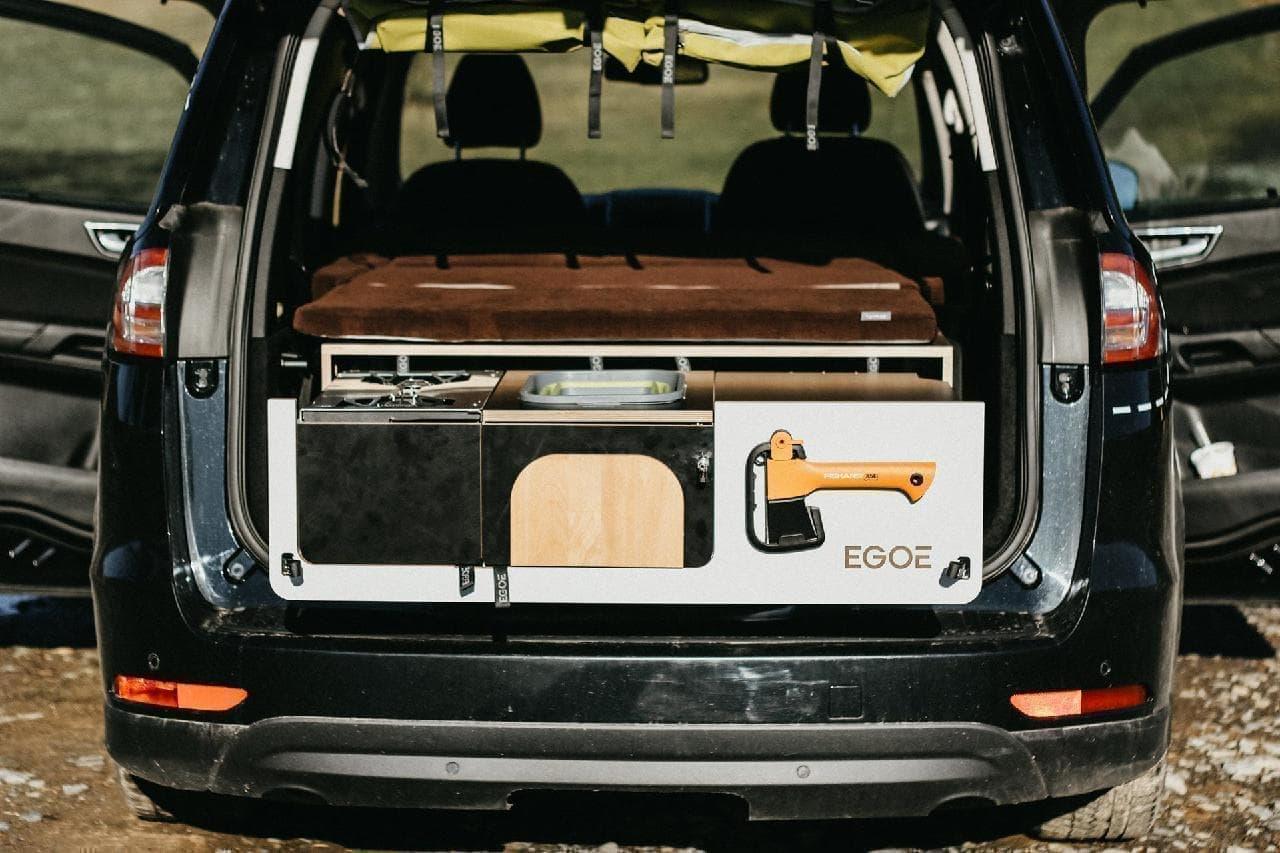 愛車をキャンピングカーにするEgoeの「Nestbox」