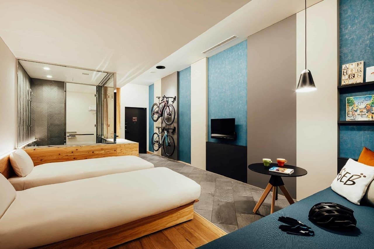 自転車と添い寝できるホテル 星野リゾート「BEB5土浦」