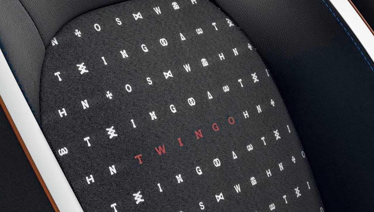 ボディにデザイン文字を散りばめたルノー「トゥインゴ 」の特別仕様車「シグネチャー」