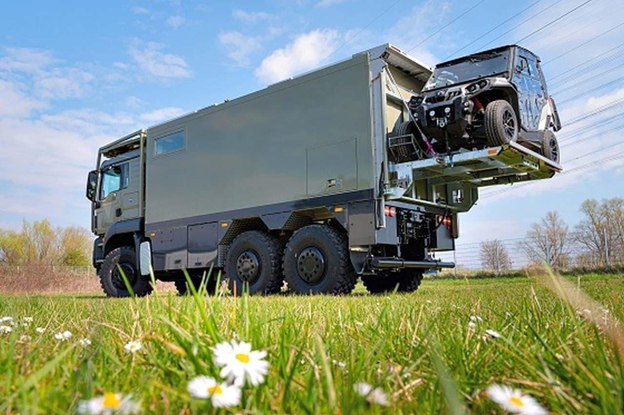 オフロード四輪車(ATV)を積めるキャンピングカー「MD56c」
