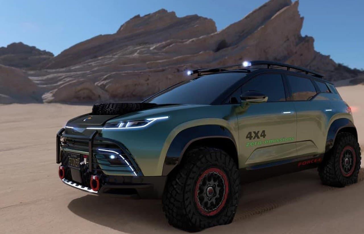 世界一環境に優しい電動SUV フィスカー「OCEAN」にオフロード性能を高めた「Force-E」