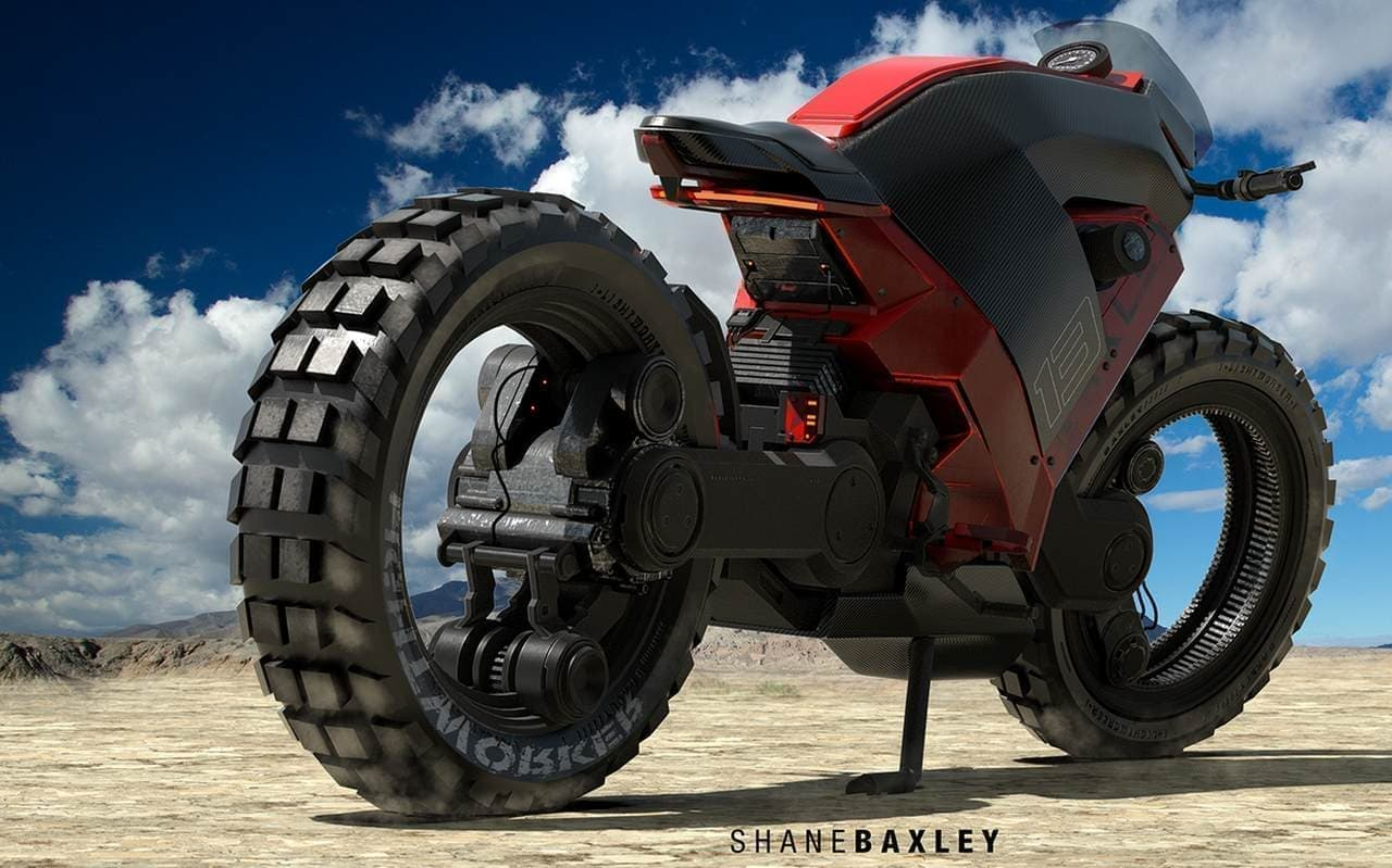 ハブレスバイクのアートコンセプト「Baxley Moto」