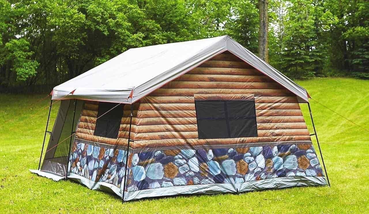 山小屋に住みたい!という夢を(ちょっとだけ)叶えるログハウス風テントTIMBER RIDGE「丸太小屋テント」