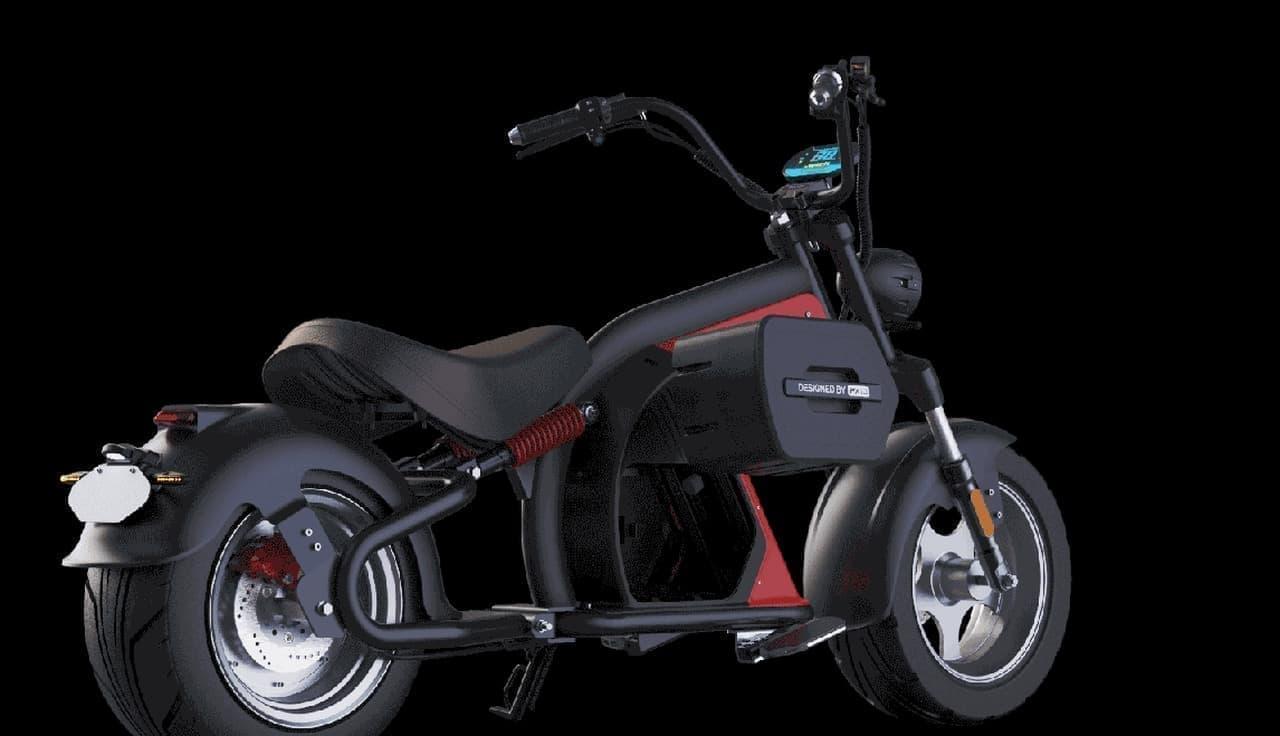 チョッパーハンドルの電動クルーザーバイク「WYLD」