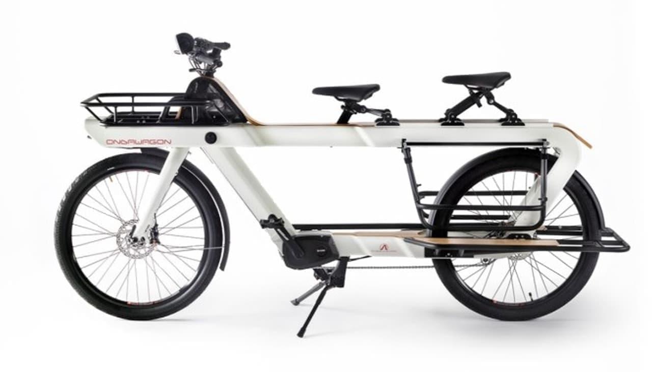 リアにもサドルを付けられる!見たことの無いデザインのカーゴバイク「Ondawagon」