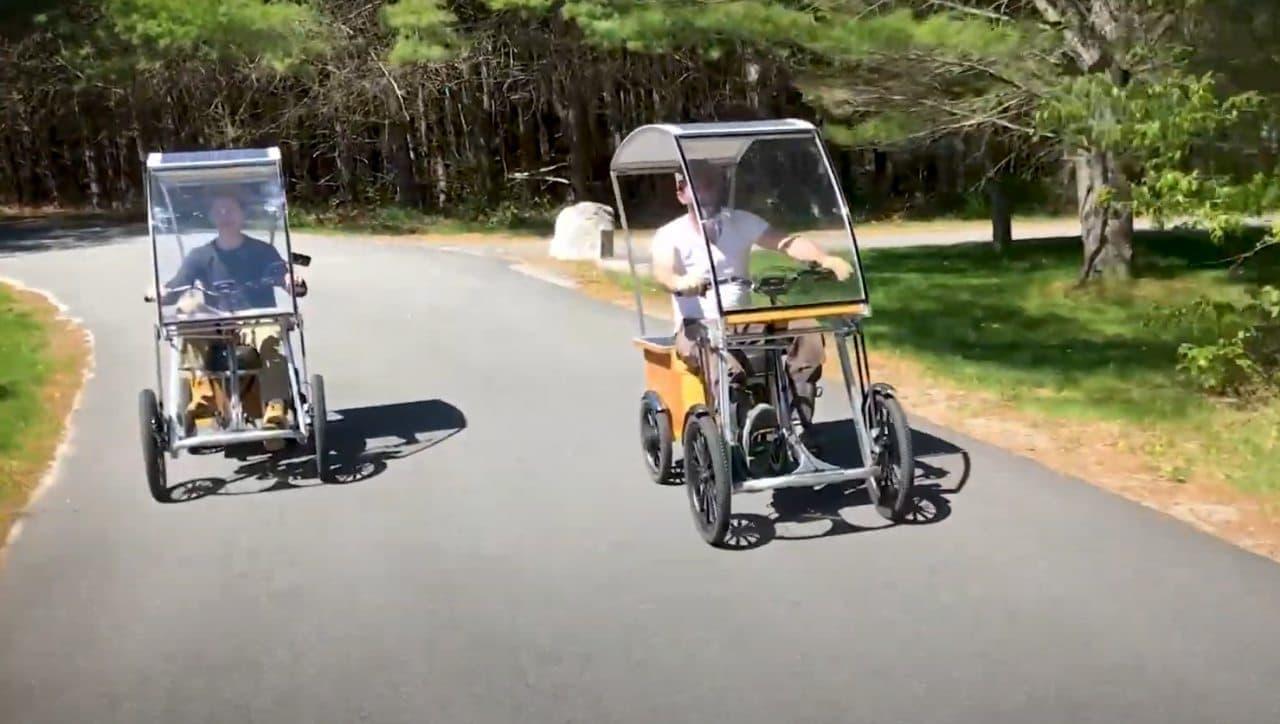 太陽光で走るハイブリッドカー「Pedalcycle」
