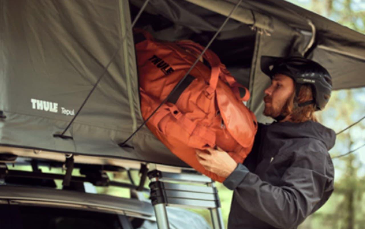 ハーフなルーフトップテント!余ったスペースに自転車やサーフボードを載せられるThule「Tepui Foothill」