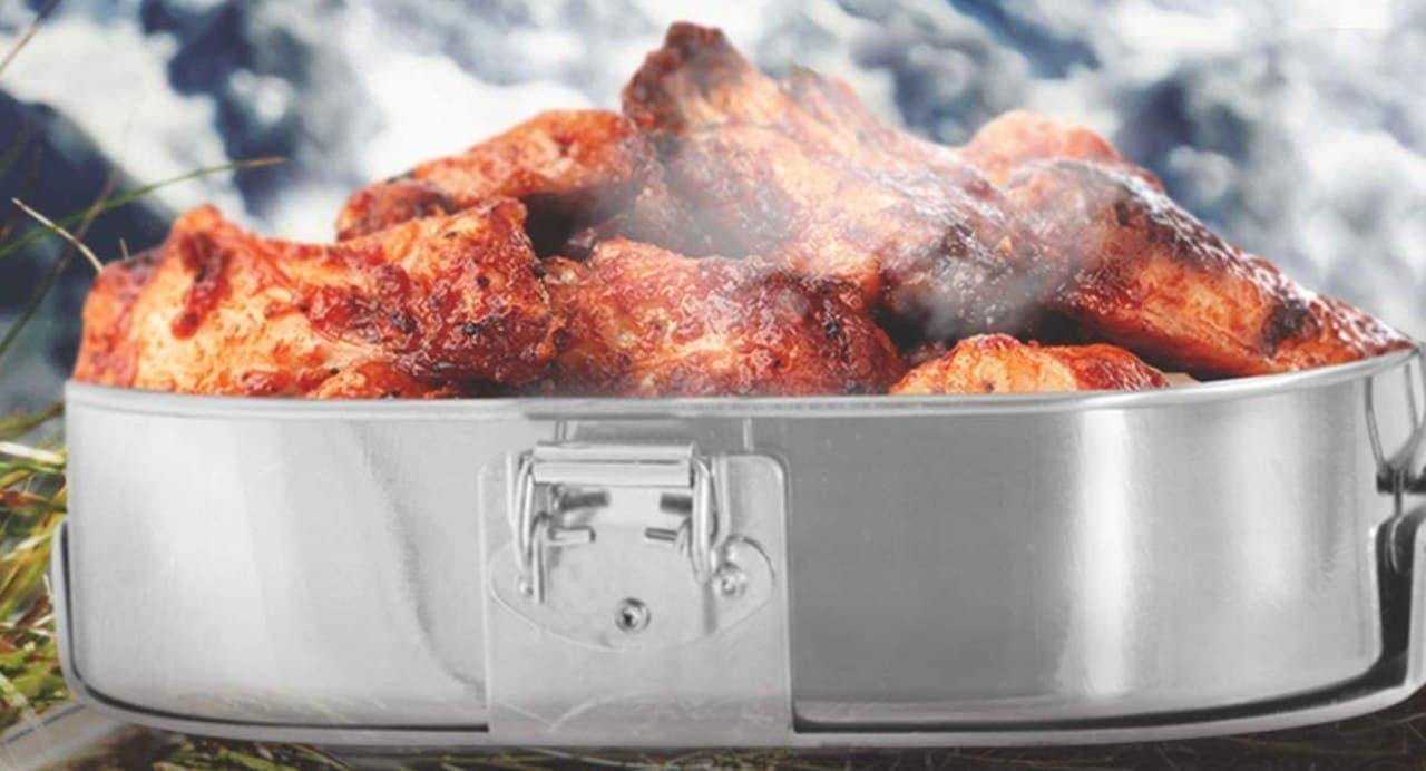 マフラーの排気熱でお弁当を温める「マフポット」雪山でも暖かい食事を取りたい