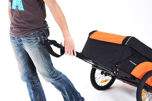 自転車と切り離して、トレーラーだけを目的地まで運ぶことも可能