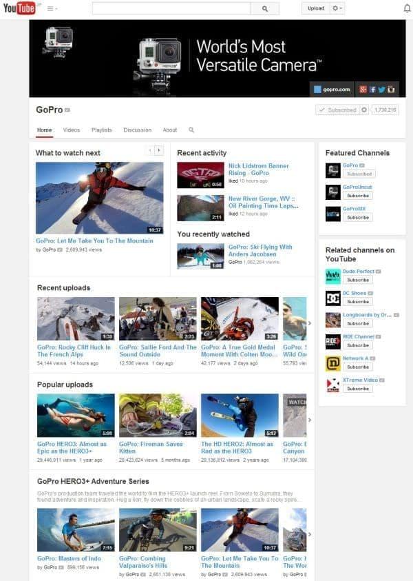 GoPro 公式 YouTube チャンネル  (出典:GoPro)