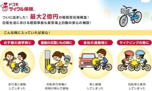 ドコモ サイクル保険  (出典:NTT ドコモ)