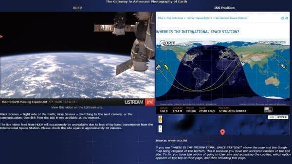 「宇宙の船窓から」放映スタート  (出典:NASA)