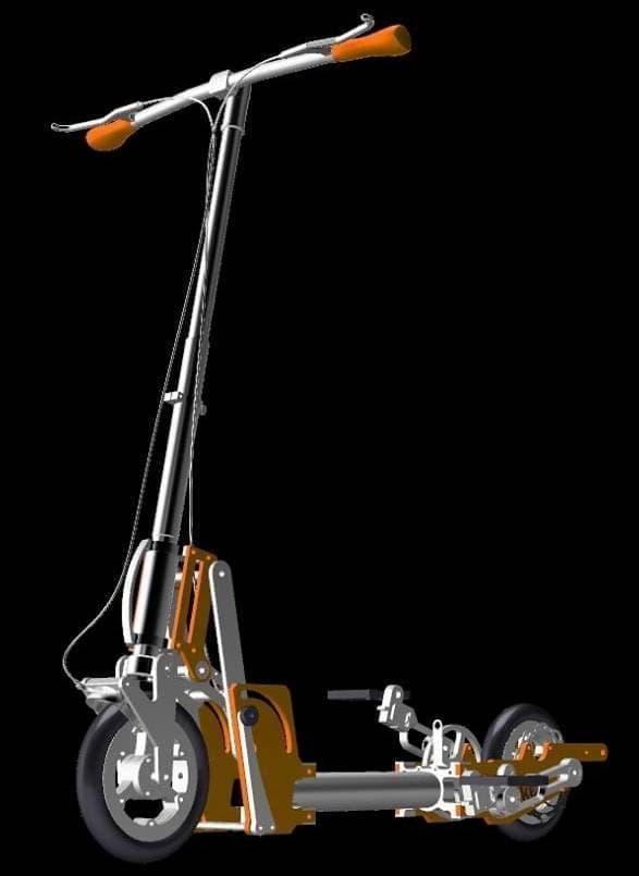 キックスケーター型の自転車「nbike」