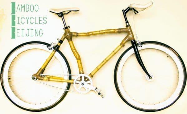 竹製フレームの自転車 Bamboo Bicycles Beijing  (出典:Kickstarter のプロジェクト ページ)