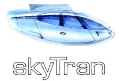 磁気浮上型の2人乗り次世代交通システム  skyTran