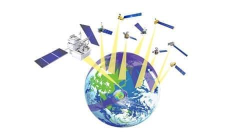 主衛星と多数の副衛星を組み合わせて地球全体を観測  (出典:JAXA)