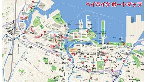横浜都心部に点在するサイクルポート