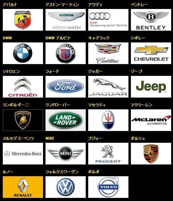 出展する輸入車ブランド  (出典:LE VOLANT CARS MEET 2014)