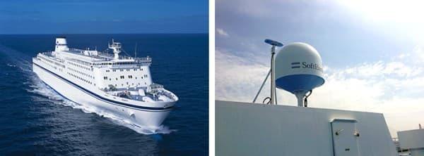 左:きそ  右:衛星通信用アンテナ