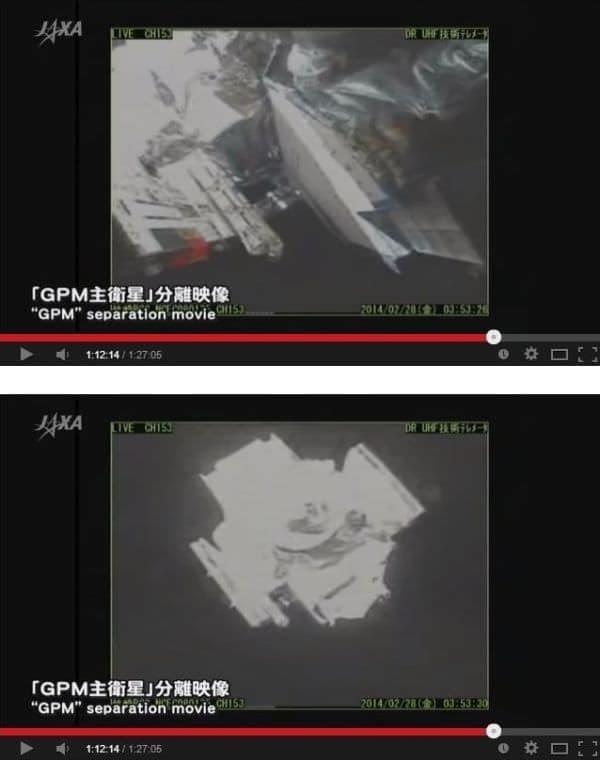 GPM 主衛星を分離  (出典:JAXA)