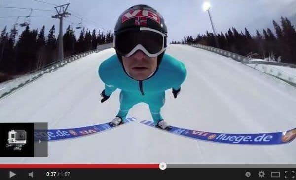 スキーのジャンプ  ソチ オリンピックは終わっちゃったけど  (出典:GoPro)